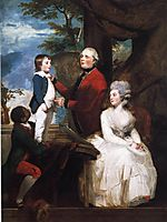 George Grenville, Earl Temple, Mary, Countess Temple, and Their Son Richard, 1782, reynolds