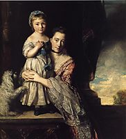 Georgiana, Countess Spencer, and Her Daughter, 1761, reynolds