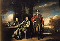Henri Fane with His Guardians, 1762, reynolds