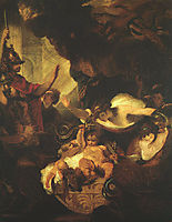 The Infant Hercules Strangling Serpents in His Crade, c.1788, reynolds