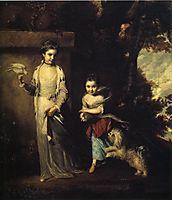 Ladies Amabel and Mary Jemima Yorke, 1760, reynolds