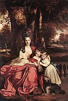 Lady Delm and her Children, 1780, reynolds