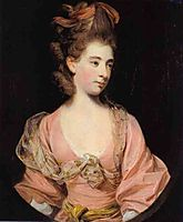 Lady in Pink, Said to be Mrs. Elizabeth Sheridan, reynolds