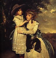 Miss Cocks and Her Niece, 1789, reynolds