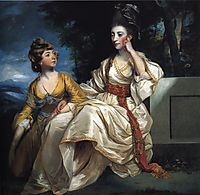Mrs. Thrale and her Daughter Hester (Queeney) , 1778, reynolds