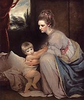 Mrs. William Beresford and her Son John, later Lord Decies, c.1775, reynolds