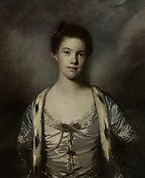 Portrait of Bridget Moris in a White Silk Dress, reynolds