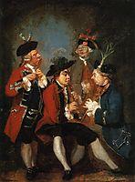 Sir Thomas Kennedy, James Caulfeild, Mr. Ward and Mr. Phelps, 1751, reynolds