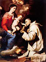 Madonna with the Christ Child and Saint Bruno, 1624, ribera