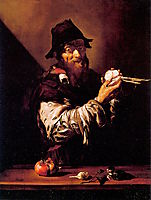 Portrait of an Old Man with an Onion , ribera