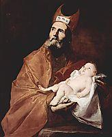 Saint Simeon with the Christ child, 1647, ribera
