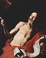 St. Jerome and the Trumpet of Doom, 1637, ribera