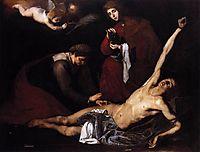 St. Sebastian Tended by the Holy Women, 1621, ribera
