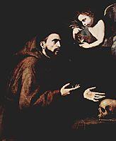 Vision of St. Francis of Assisi , 1638, ribera