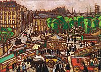 Busy City Scene , 1914, ripplronai