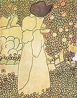 Lady in her garden, ripplronai
