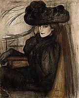 Lady with Black Veil, 1896, ripplronai