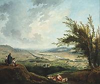 An extensive landscape near Paris, 1781, robert