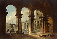 Ancient Ruins Used as Public Baths, 1798, robert