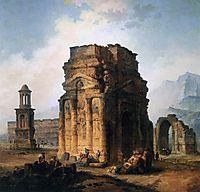 The Arc de Triomphe and the Theatre of Orange, 1787, robert