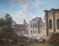 Demolition of the Château of Meudon, 1806, robert