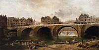 Demolition of the Houses on the Pont Notre-Dame in 1786, 1786, robert