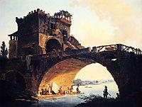 The Old Bridge, 1775, robert