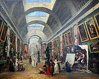 Projet d-aménagement de la Grande Galerie du Louvre, 1796, robert
