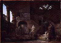 Studio of an Antiquities Restorer in Rome, 1783, robert