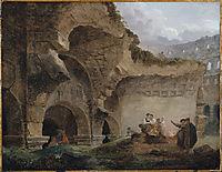 Washerwomen in the Ruins of the Colosseum, robert