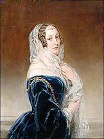 Duchess Maria Feodorovna Baryatinsky, née. Keller, c.1845, robertson