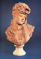 Bust of a Smiling Woman, 1875, rodin