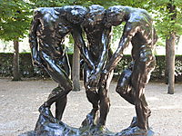 The Three Shades, rodin