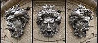 Three views of a mask, rodin