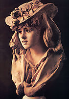 Young Girl with Roses on Her Hat, 1870, rodin