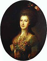Portrait of Countess Elizaveta Santi, 1785, rokotov