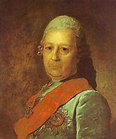 Portrait of A.M.Obreskov, 1777, rokotov