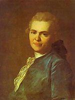 Portrait of Unknown Man in a Blue Caftan, c.1770, rokotov