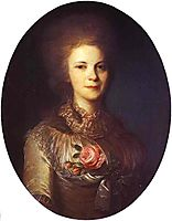Portrait of V.N.Surovtseva, c.1780, rokotov