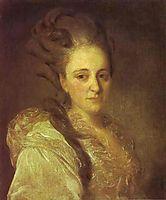 Portrait of V.A.Obreskova, 1777, rokotov