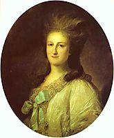 Portrait of Varvara Ermolayevna-Novosiltseva, 1780, rokotov