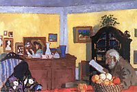 Uncle Piacsek in front of the Black Sideboard, 1906, ronai
