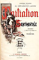 Front Cover of Joséphin Péladan-s Novel -Initiation Sentimentale-, 1887, rops