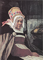 Head of old woman from Antwerp, 1873, rops