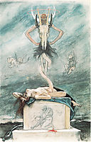 The Sacrifice, from The Satanic Ones, c.1882, rops