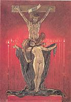 The Satanic. Calvary, 1882, rops