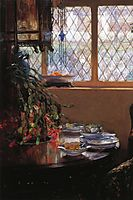 From the Dining Room Window, 1910, rose