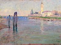The Gondolier, Venice, 1894, rose