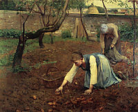 The Potato Gatherers, 1891, rose