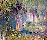 River Epte, Giverny, 1910, rose